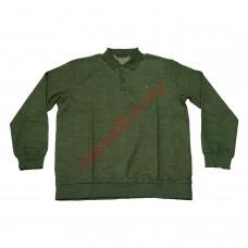 Блуза с яка 3XL - 4XL - 5XL със зелен патерн