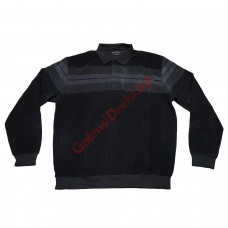 Блуза памук-вискоза 3XL - 4XL - 5XL черно-сива