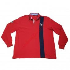 Блуза с яка 100% памук 4XL - 5XL червена