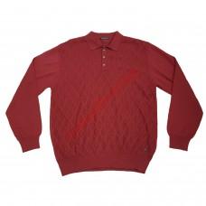 Блуза с яка 3XL - 4XL червени ромбове