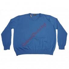 Блуза шпиц 100% памук 4XL - 5XL морско синя