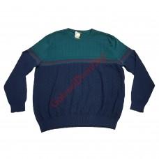 Блуза 100% памук 4XL - 5XL тъмно-синя