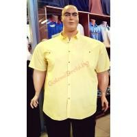 Риза с къси ръкави цвят ЛИМОН 3XL - 4XL - 5XL - 6XL 100% варен памук