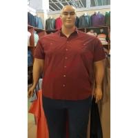 """Риза с къси ръкави цвят """"керемида"""" 3XL - 4XL - 5XL - 6XL 100% варен памук"""
