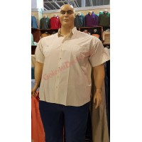 """Риза с къси ръкави цвят """"крем"""" 3XL - 4XL - 5XL - 6XL 100% варен памук"""