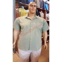 """Риза с къси ръкави цвят """"резеда"""" 3XL - 4XL - 5XL - 6XL 100% варен памук"""