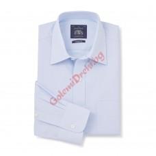 Класическа риза фин 100% памучен поплин небесно син цвят