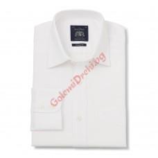 Бяла класическа Оксфорд риза 100% памук