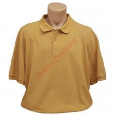 "Тениска с поло яка ""Горчица"" 3XL - 4XL - 5XL"