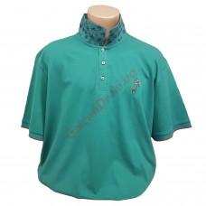 "Тениска с поло яка ""Фламинго"" 3XL - 4XL - 5XL зелена"