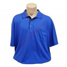 Синя тениска с поло яка и джоб 3XL - 4XL - 5XL