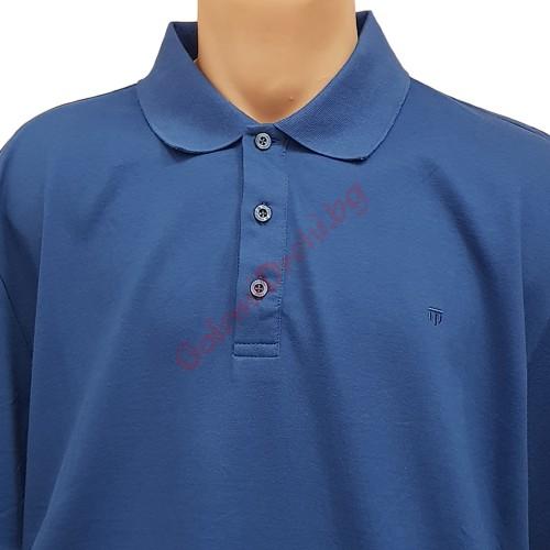 """Тениска с поло яка 3XL - 4XL - 5XL цвят """"Парламент"""""""