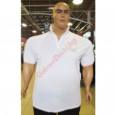 "Тениска с поло яка ""58 TMNT"" 3XL - 4XL - 5XL - 6XL - 7XL бяла"