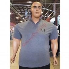 """Тениска с поло яка """"58 TMNT"""" 3XL - 4XL - 5XL - 6XL - 7XL графит"""