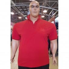 "Тениска с поло яка ""58 TMNT"" 3XL - 4XL - 5XL - 6XL - 7XL червена"