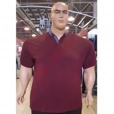 Тениска с поло яка 3XL - 4XL - 5XL - 6XL - 7XL бордо