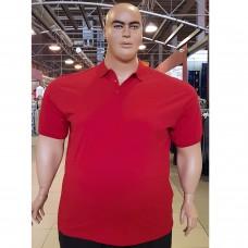 Тениска с поло яка 3XL - 4XL - 5XL - 6XL - 7XL цвят ЧЕРВЕН