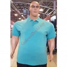 Тениска с поло яка 3XL - 4XL - 5XL - 6XL - 7XL цвят МЕНТА