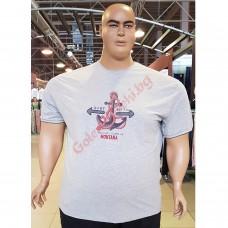 """Тениска """"BARE METAL"""" 3XL - 4XL - 5XL - 6XL - 7XL СИВ МЕЛАНЖ"""