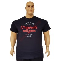 """Черна тениска """"Originals Superior Vintage"""" 3XL - 4XL - 5XL - 6XL"""
