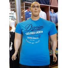 Тениска Denim 3XL - 4XL - 5XL - 6XL светло-синя