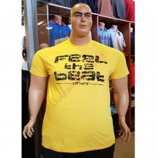 Тениска FEEL THE BEAT 3XL - 4XL - 5XL - 6XL жълта