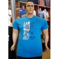 Тениска LET THE SUN SHINE IN 3XL - 4XL - 5XL - 6XL светло-синя