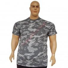 Тениска камуфлажна сива 3XL - 4XL - 5XL - 6XL