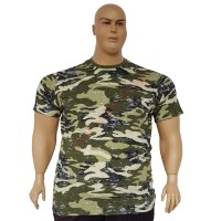 Тениска камуфлажна зелена 3XL - 4XL - 5XL - 6XL