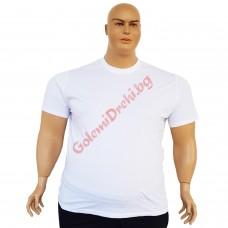 Тениска обикновена 3XL - 4XL - 5XL - 6XL бяла