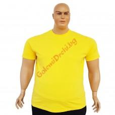 Тениска обикновена 3XL - 4XL - 5XL - 6XL жълта
