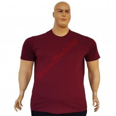 Тениска обикновена 3XL - 4XL - 5XL - 6XL бордо