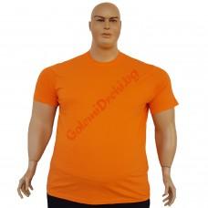 Тениска обикновена 3XL - 4XL - 5XL - 6XL оранжева
