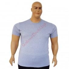 Тениска обикновена 3XL - 4XL - 5XL - 6XL сива