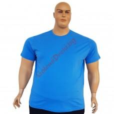Тениска обикновена 3XL - 4XL - 5XL - 6XL светло синя