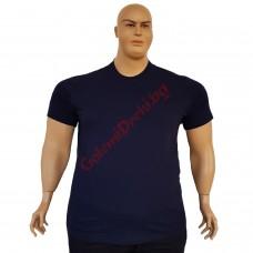 Тениска обикновена 3XL - 4XL - 5XL - 6XL тъмно-синя