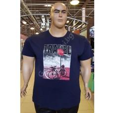 "Тениска ""TRAVEL"" 2XL - 3XL - 4XL - 5XL - 6XL ТЪМНО-СИНЯ"