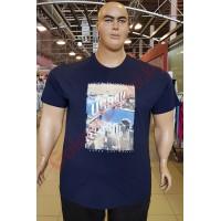 "Тениска ""URBAN"" 2XL - 3XL - 4XL - 5XL - 6XL ТЪМНО-СИНЯ"