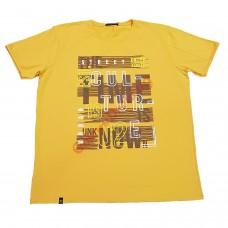 """Тениска с надпис 4XL - 5XL цвят """"горчица"""""""