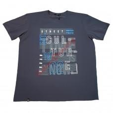 Тениска с надпис 4XL - 5XL графит