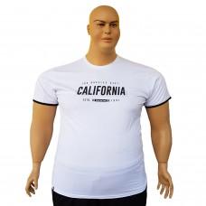 "Тениска ""California"" 6XL - 7XL бяла"