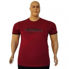 "Тениска ""California"" 6XL - 7XL бордо"