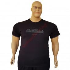 """Тениска """"California"""" 6XL - 7XL черна"""