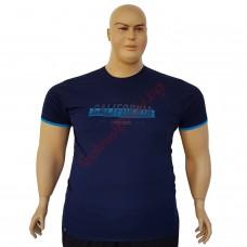 """Тениска """"California"""" 6XL - 7XL цвят тъмно-син"""