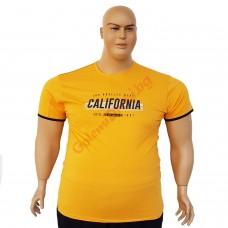 "Тениска ""California"" 6XL - 7XL жълта"