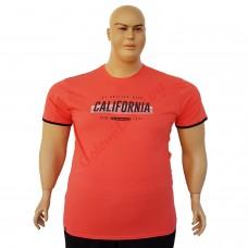 """Тениска """"California"""" 6XL - 7XL цват """"съомга"""""""