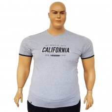 "Тениска ""California"" 6XL - 7XL сива"